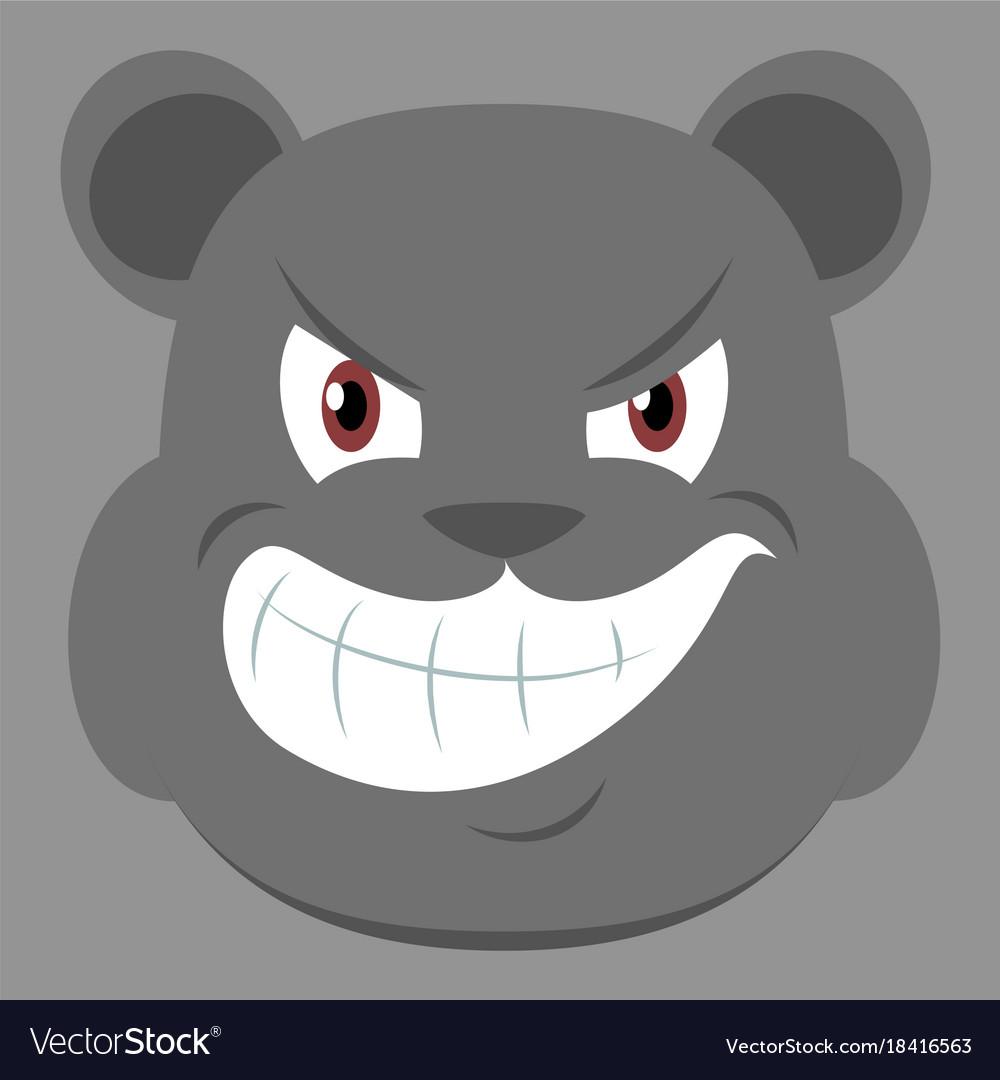 Flat icon on theme evil animal angry bear
