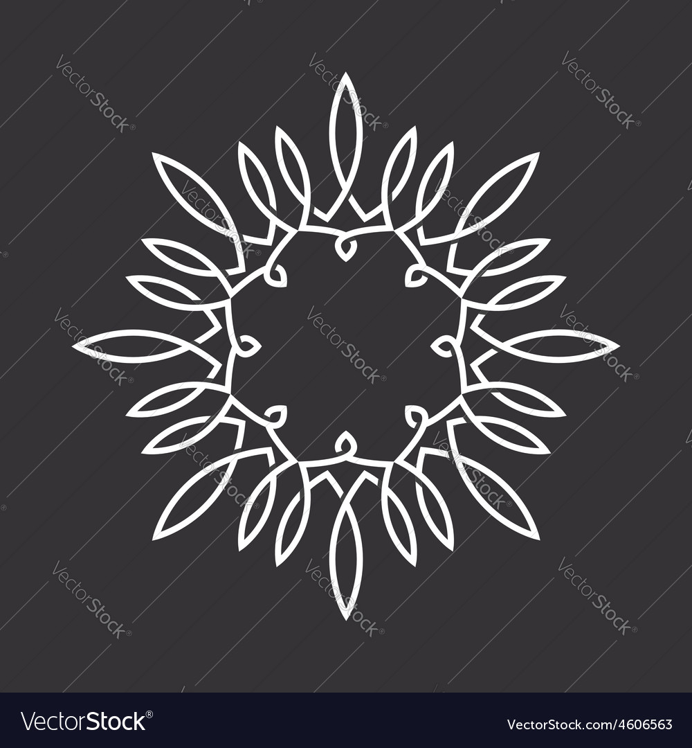 Floral monogram design logo frame of the ornament vector image
