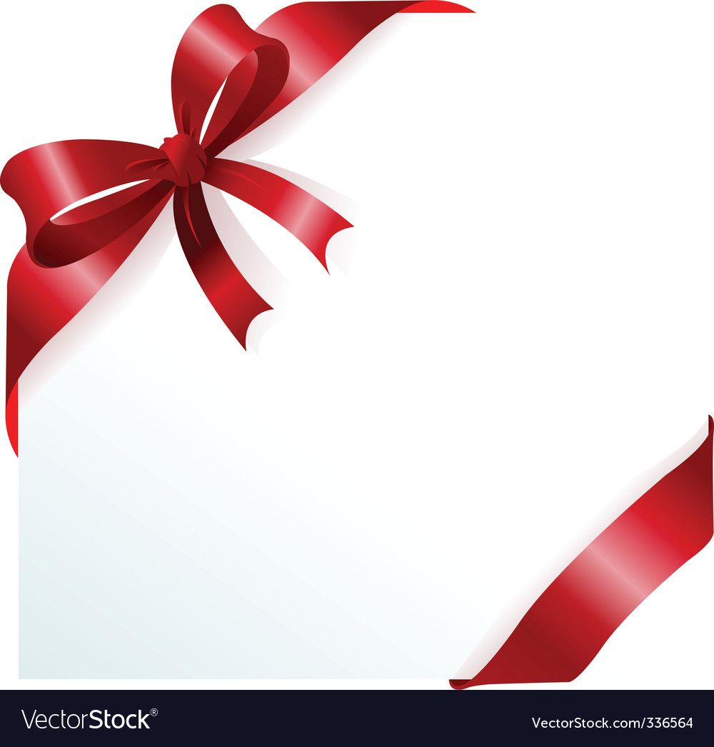 Red ribbon and bow vector image