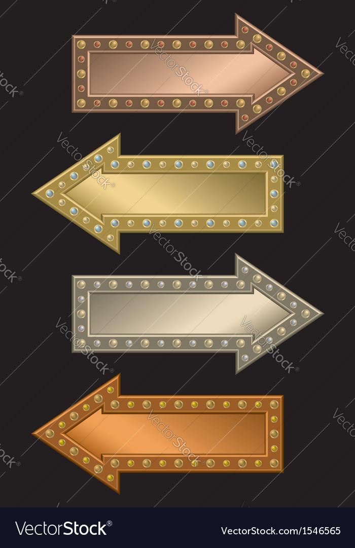 Arrow frame vector image