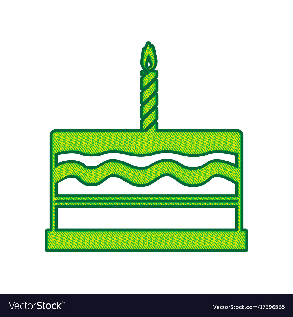 Birthday cake sign lemon scribble icon on vector image birthday cake sign lemon scribble icon on vector image biocorpaavc