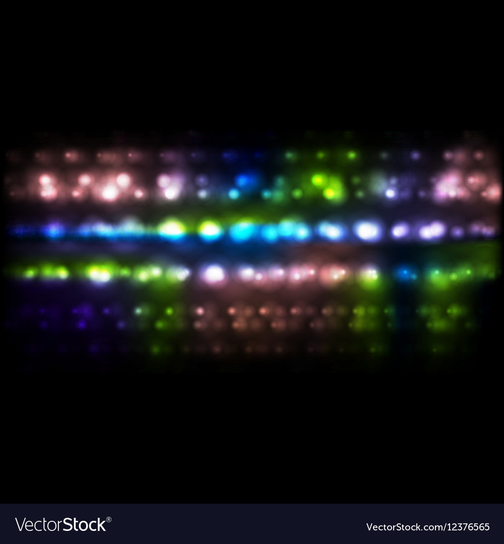 Colorful luminous bokeh festive background vector image