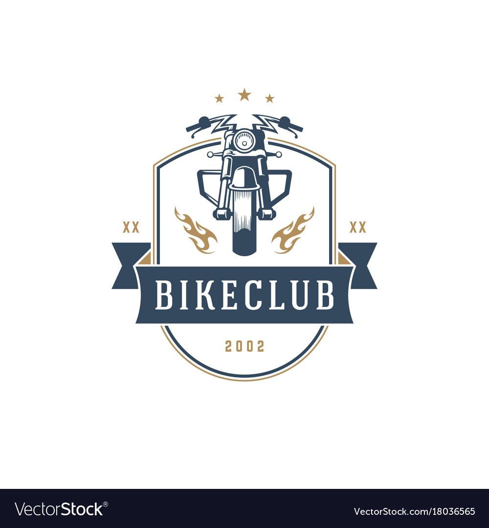 Motorcycle club logo template design vector image