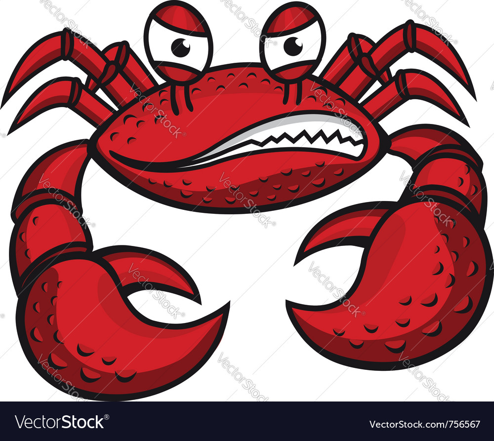 Angry crab vector image