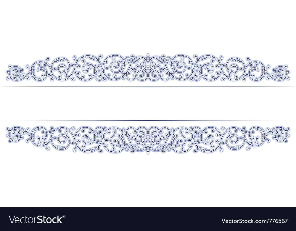 Stylish vintage lace border in vector image
