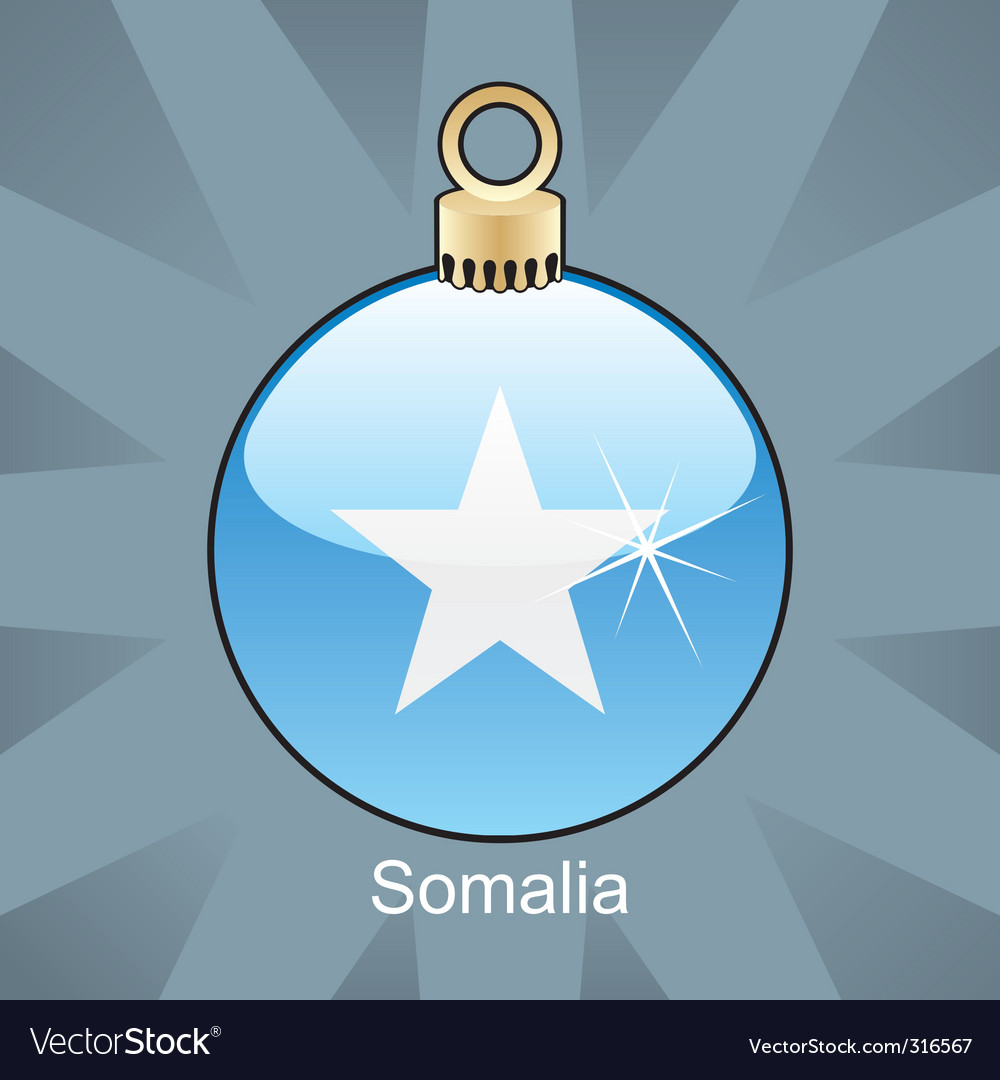 Somalia flag on bulb vector image