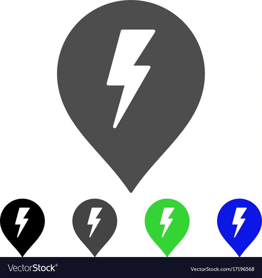 Electric shock marker flat icon royalty free vector image electric shock marker flat icon vector image buycottarizona Images