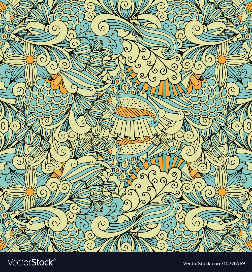 Light colors ethnic decorative pattern vector image