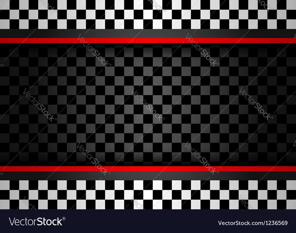 Racing horizontal backdrop vector image