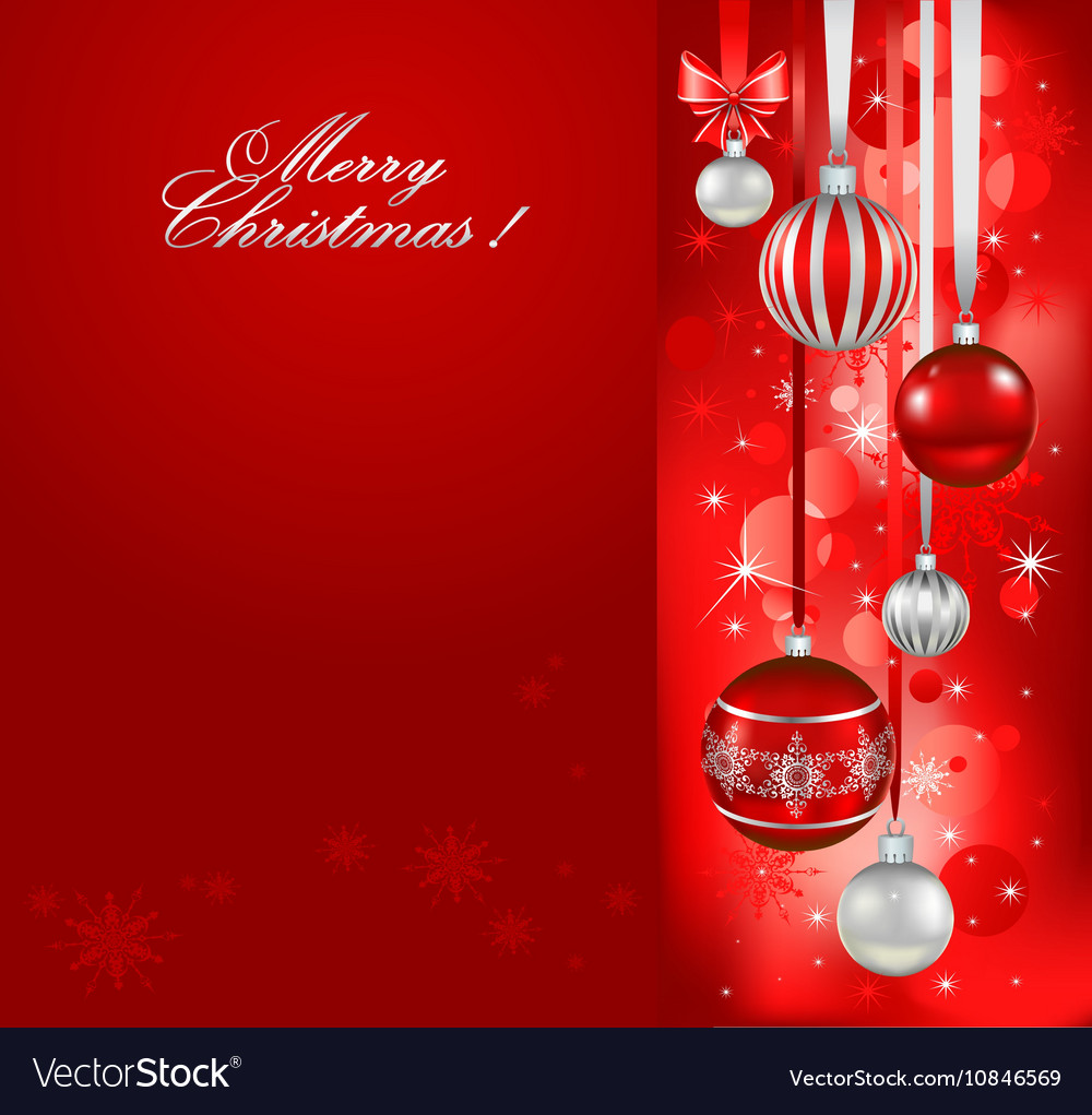 Red christmas holiday background vector image