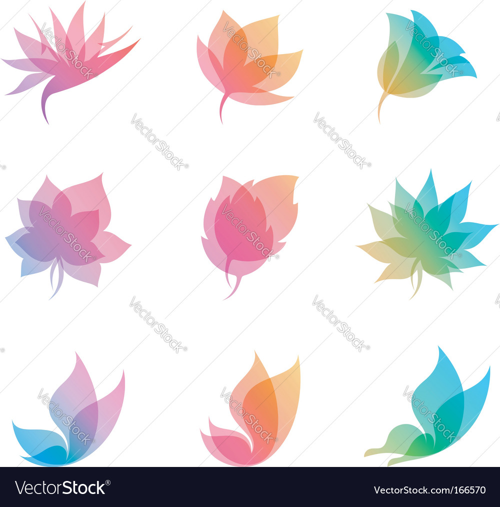 Pastel nature elements for design vector image