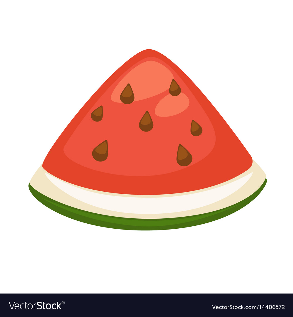 slice of refreshing watermelon royalty free vector image rh vectorstock com watermelon vector free watermelon vector black and white