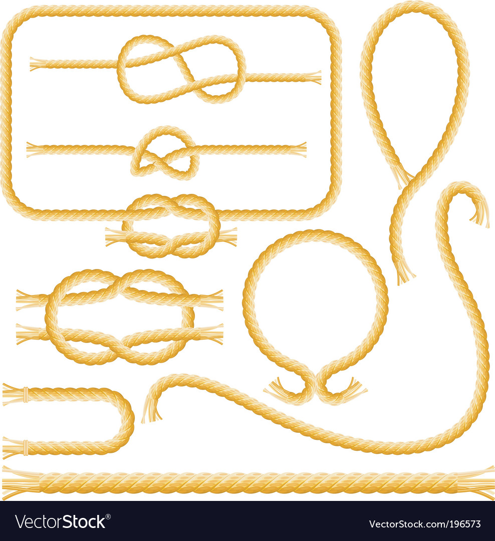 Rope frames and knots Vector Image