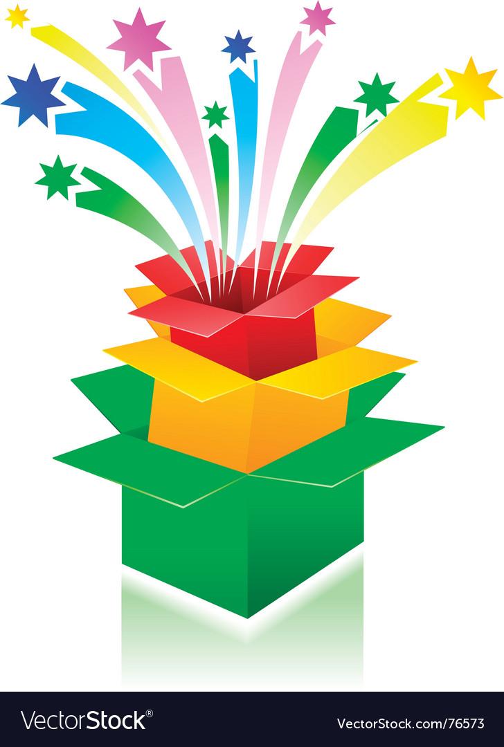 Surprise boxes vector image