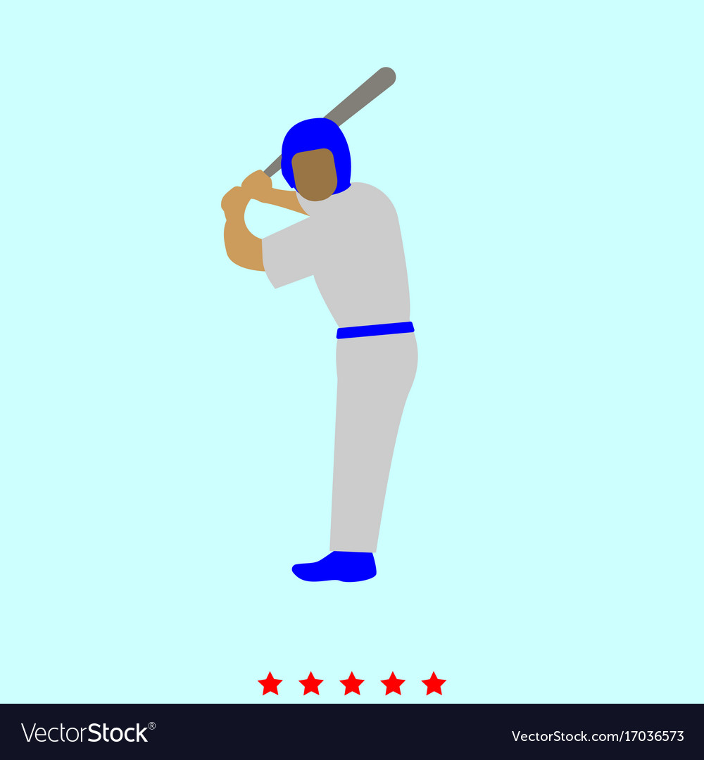 Ballplayer set it is color icon vector image