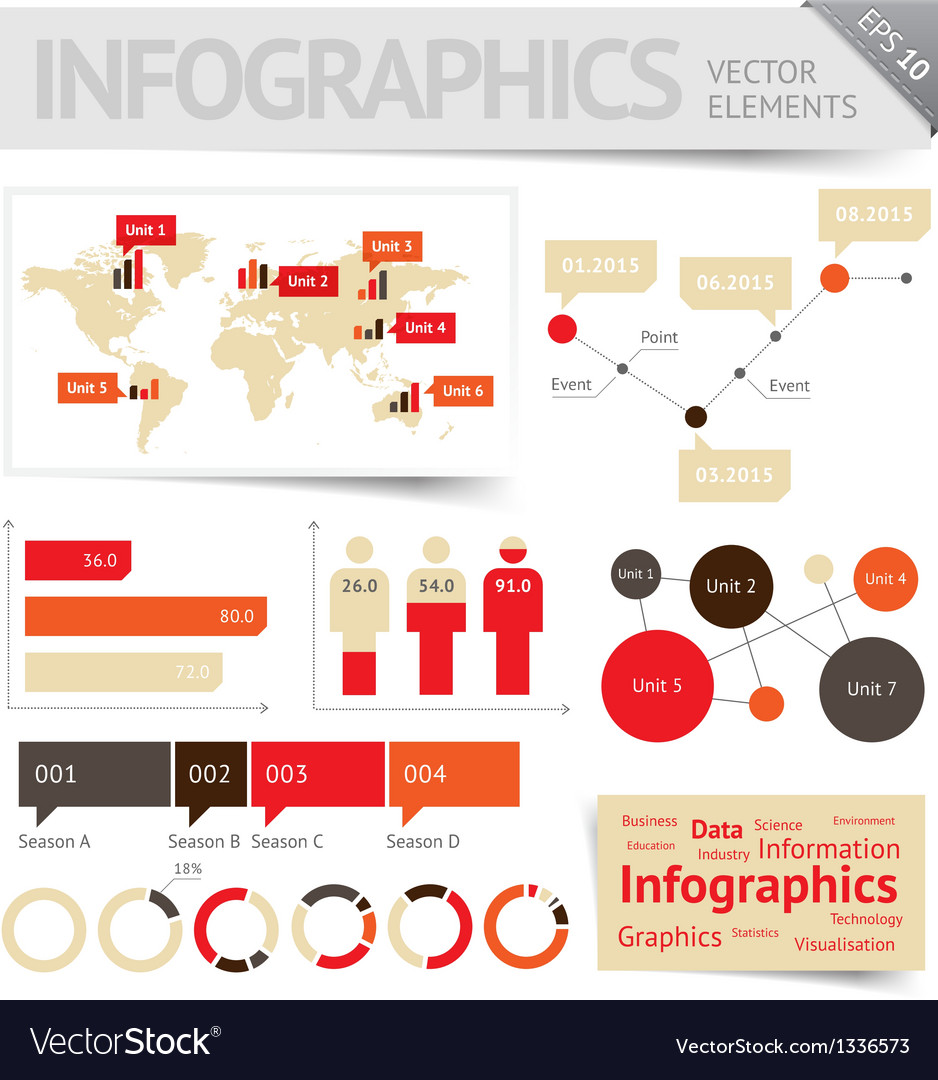 Infographic design elements vector image