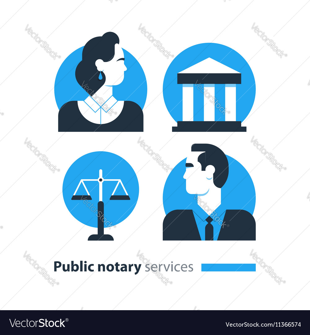 Notary 8 vector image