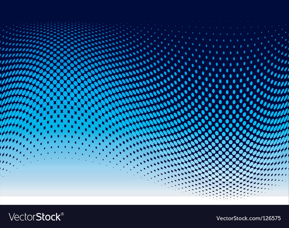 Ocean halftone wave vector image