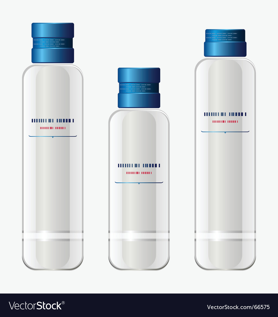Set of bottles for cosmetics Vector Image