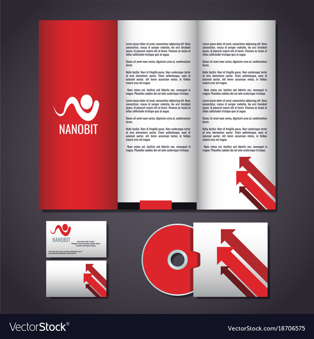 corporate identity mock up royalty free vector image, Powerpoint templates