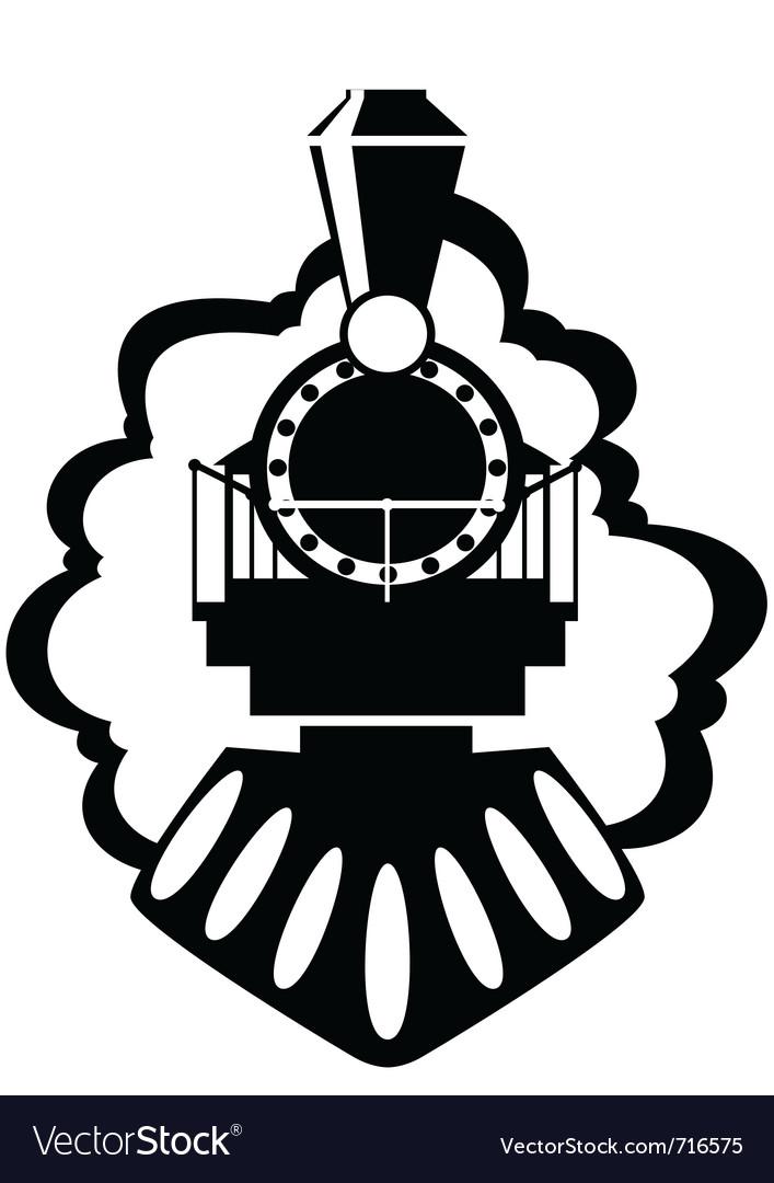 Old locomotive vector image