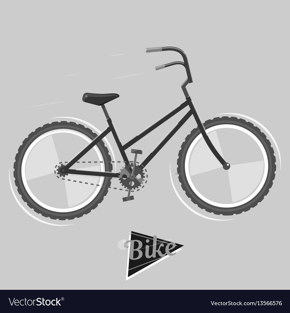 Black and white bike cycling concept bicycle vector image