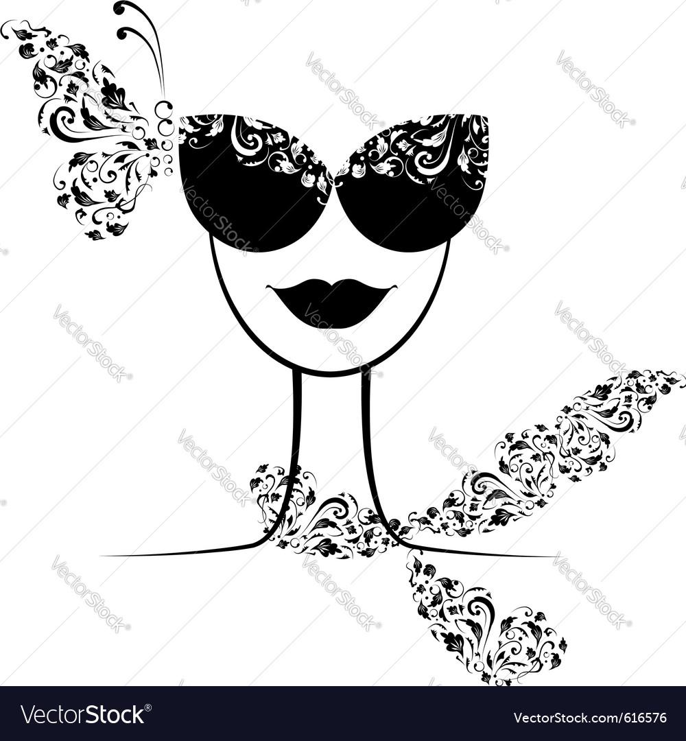 Female fashion silhouette vector image