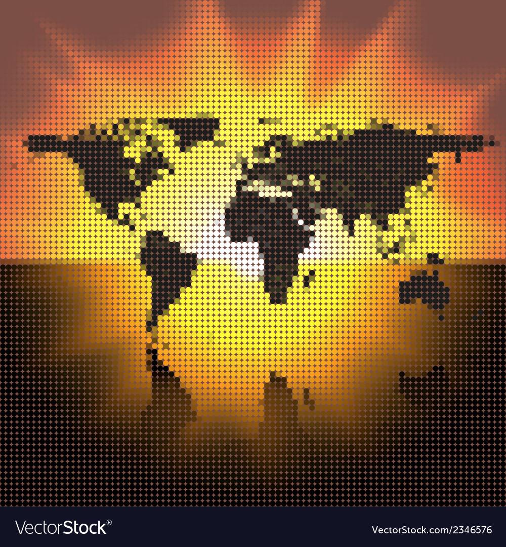 World map black dots royalty free vector image world map black dots vector image gumiabroncs Images