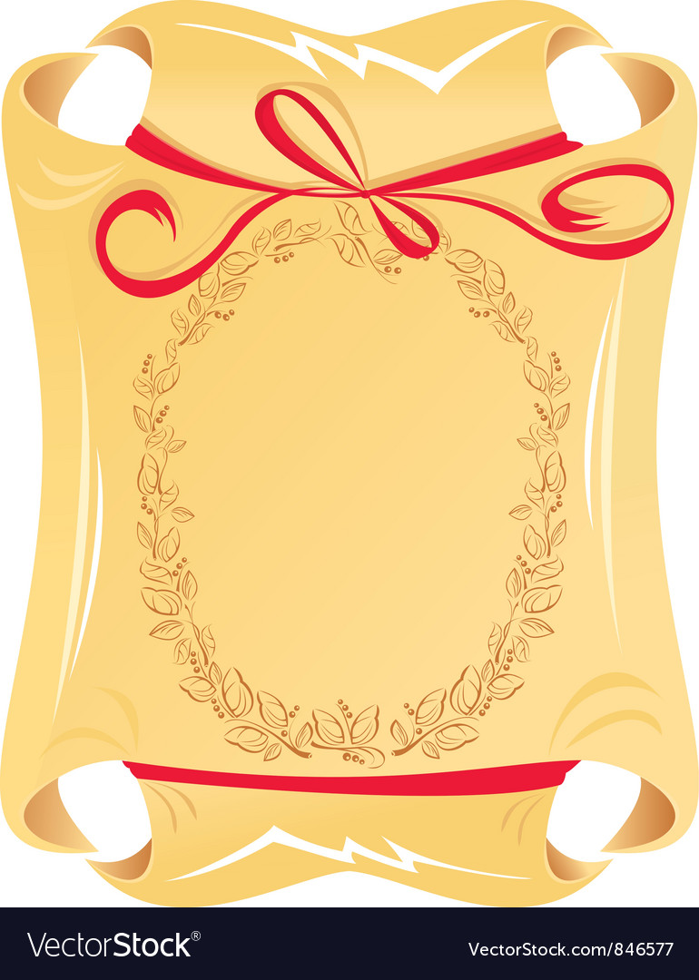 Scrolled old paper vector image