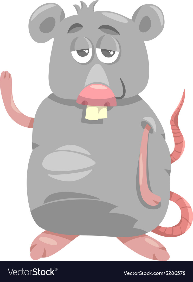 Funny rat cartoon vector image