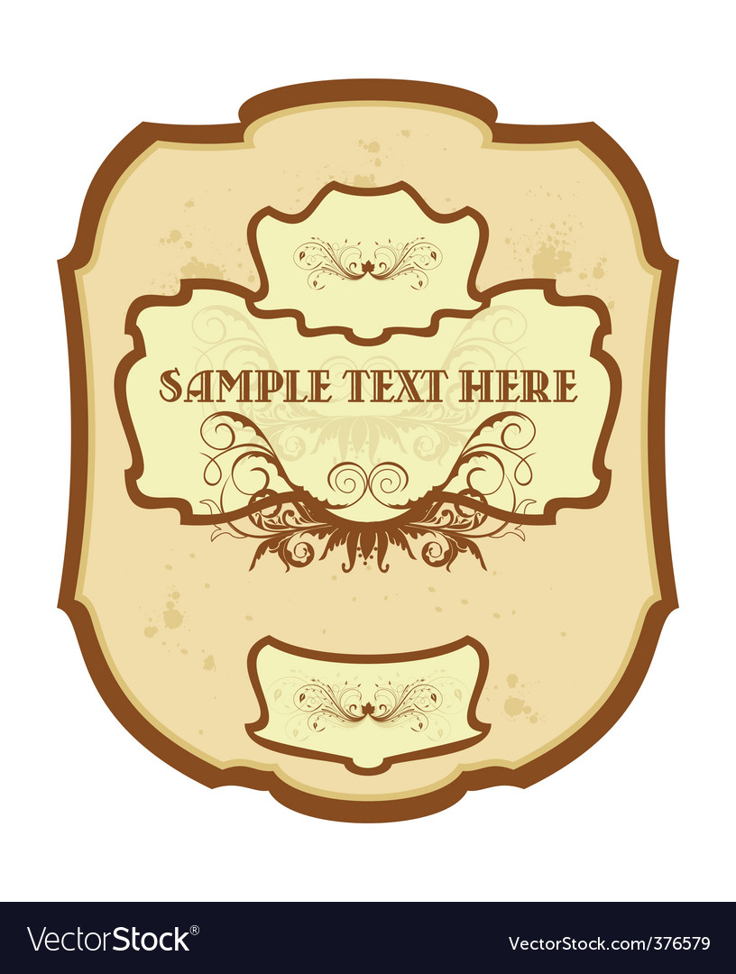 Vintage label wine vector image