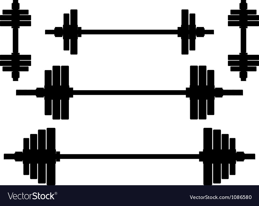 Silhouettes of weights second variant Vector Image