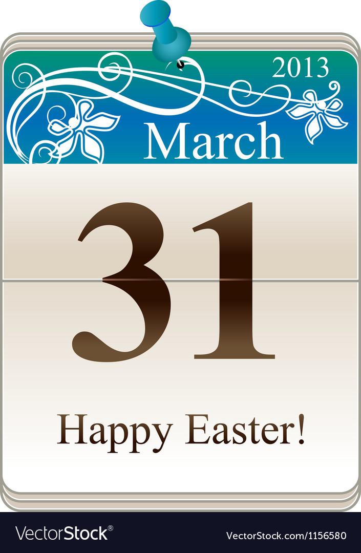 Catholic Easter 2013 vector image