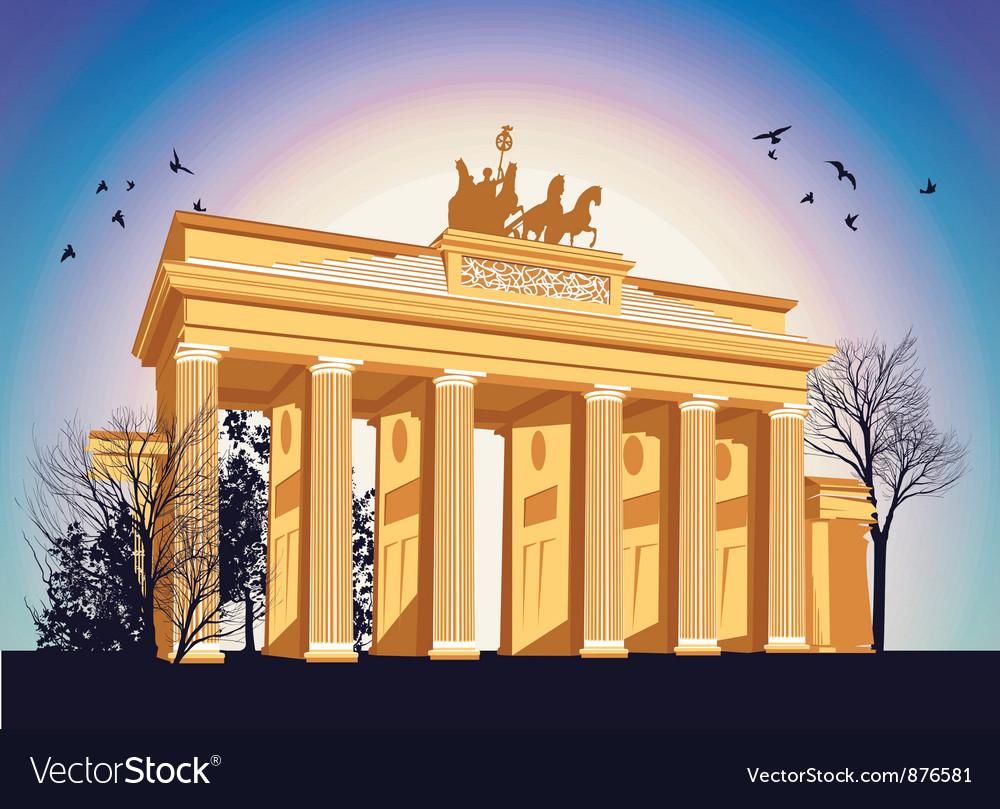 Brandenburg gate vector image