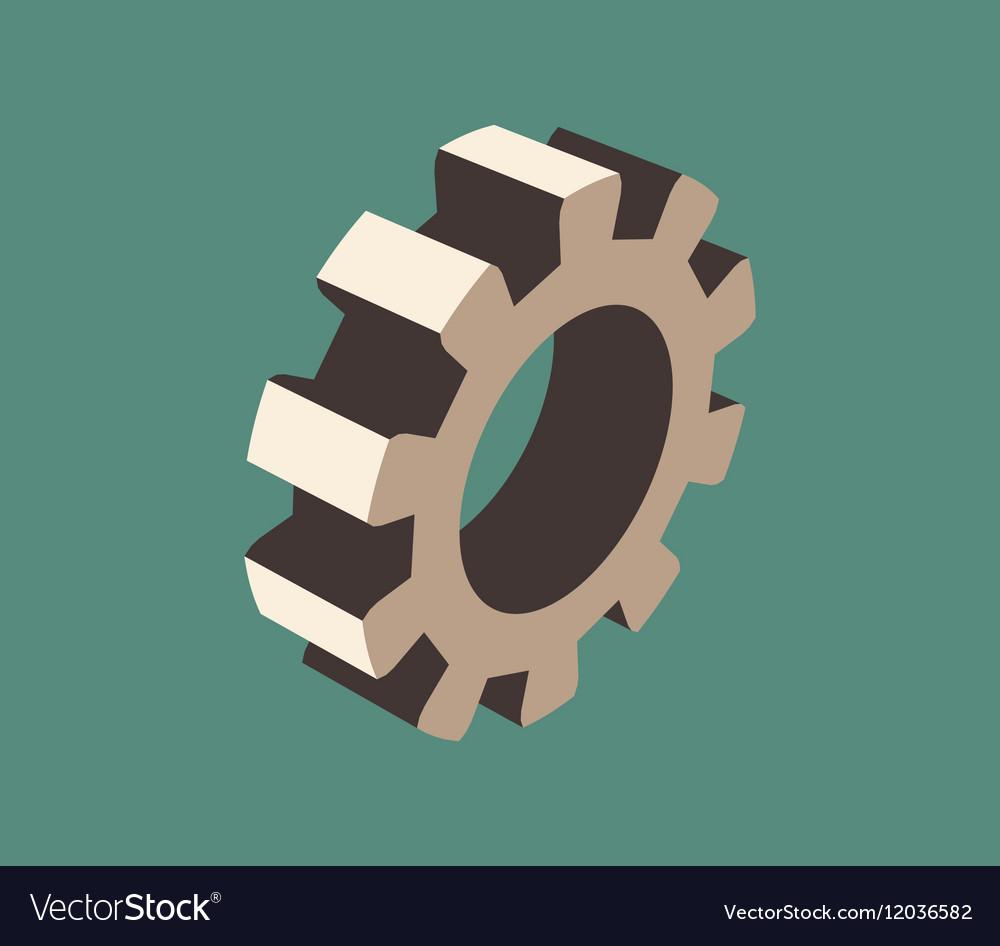 3d cog wheel vector image