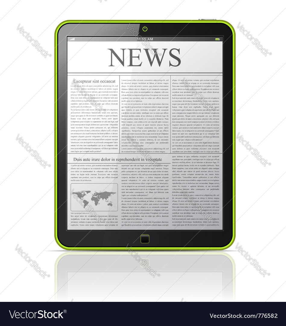 News on generic tablet pc vector image