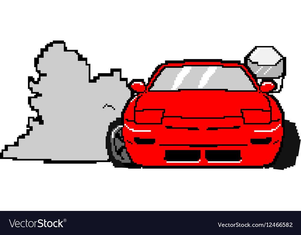 8bit s13cartoon vector image