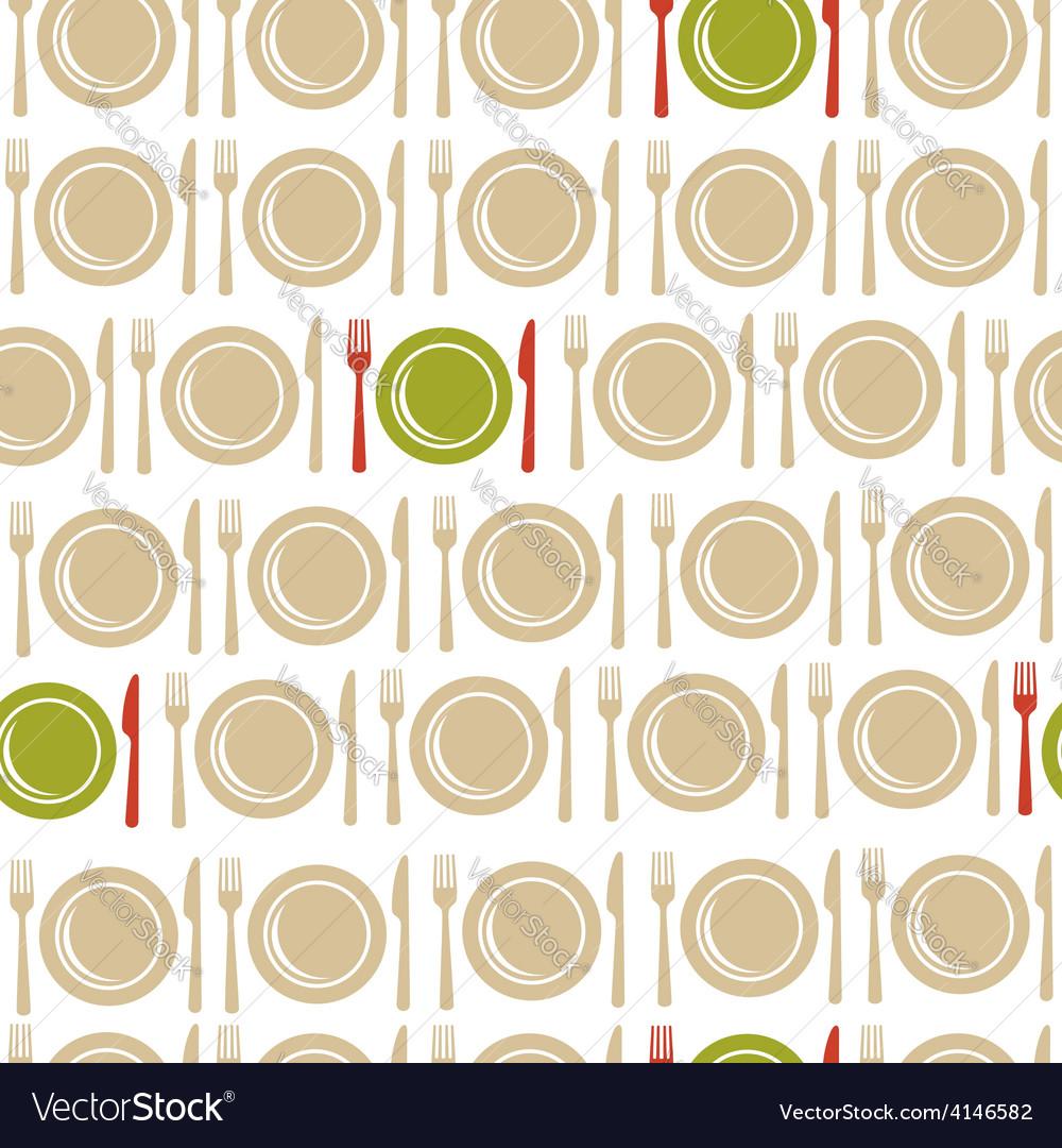 Restaurant seamless pattern background vector image