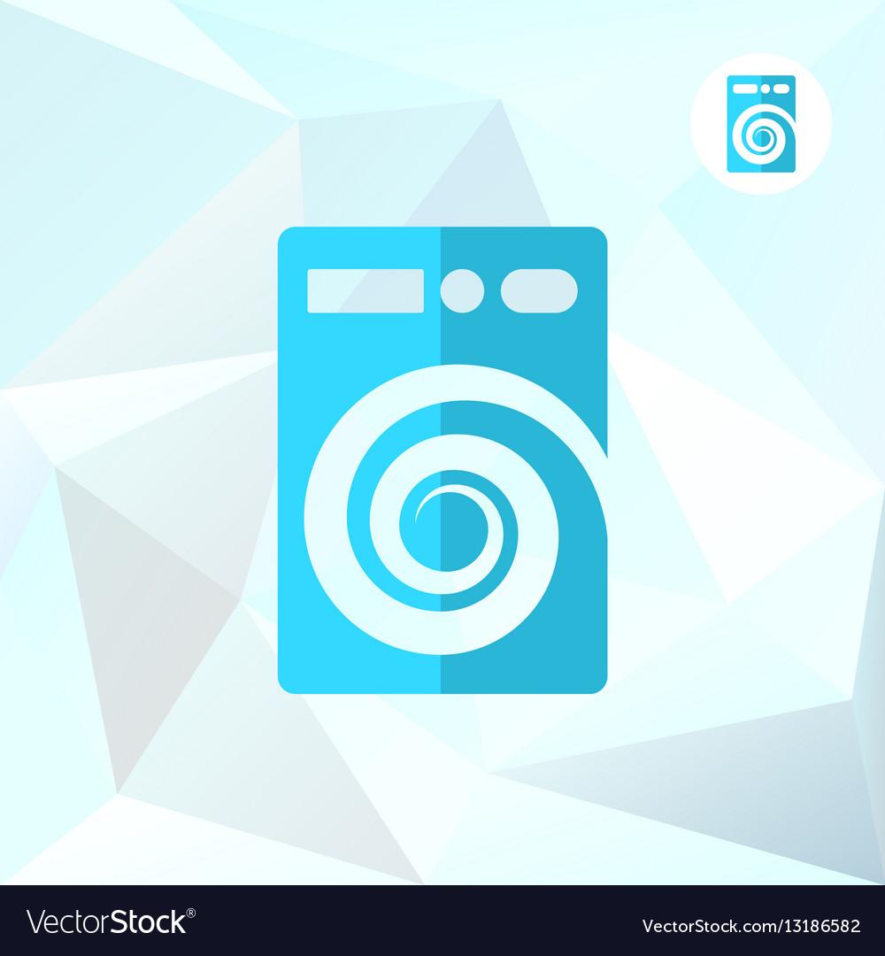 Washer machine logo on mosaic background vector image