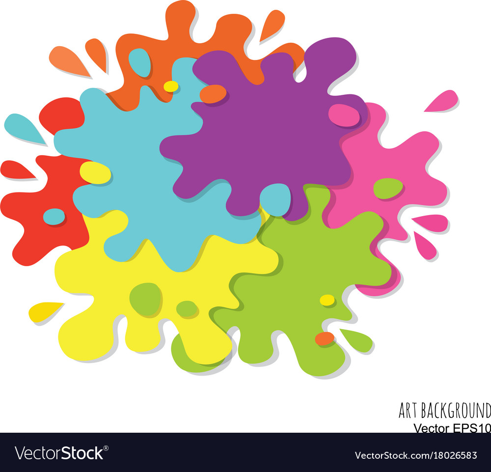 Abstract art background made of paint spots and vector image