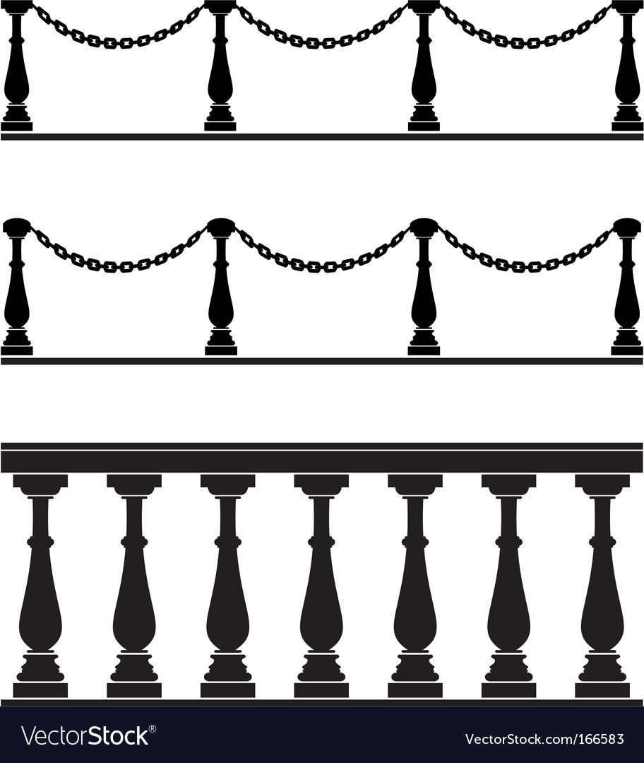 Architectural element balustrade fence chain vector image