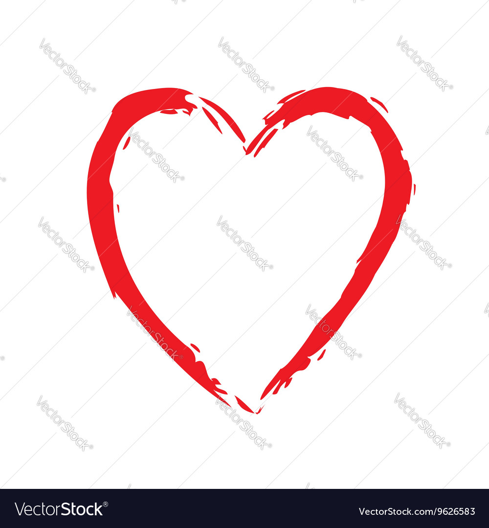 Heart red bright icon sign vector image