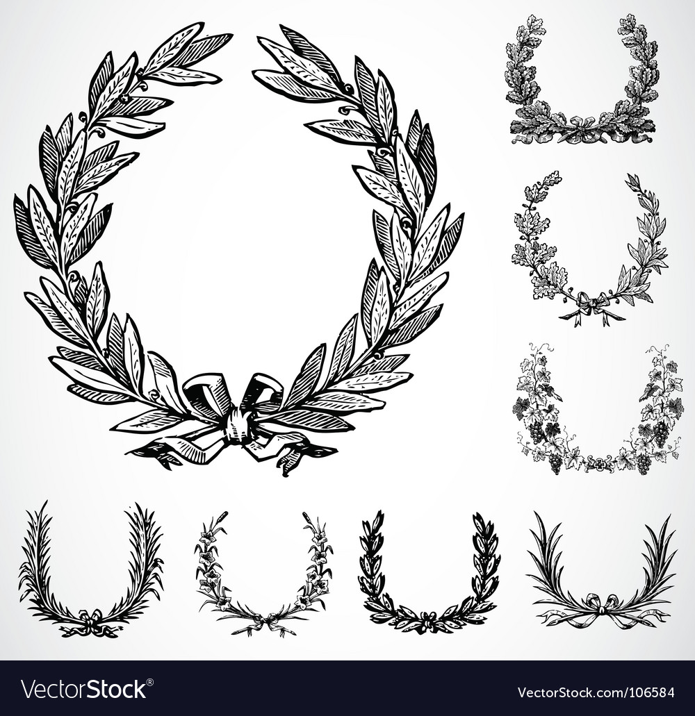 Ornate wreaths vector image