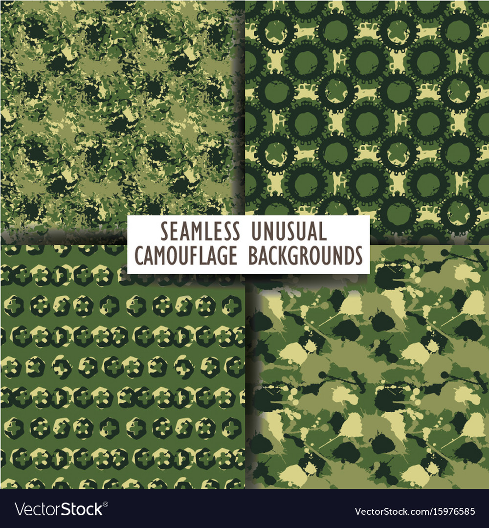 Seamless backgrounds of a camouflage vector image