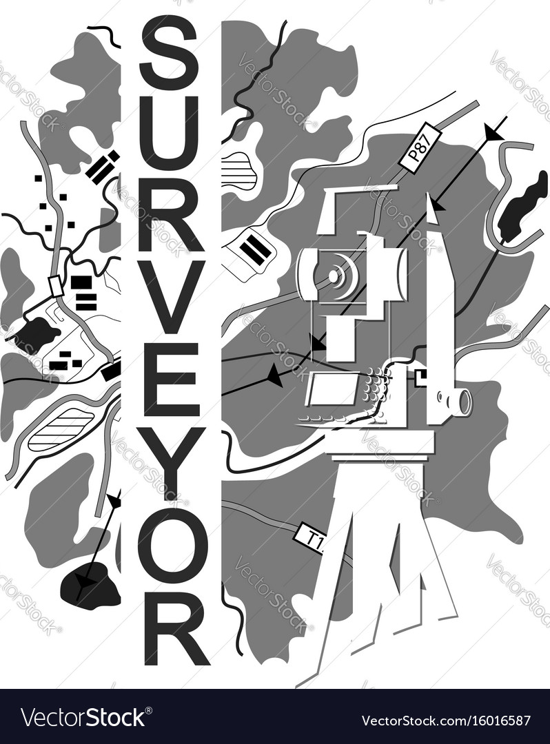 Symbol for surveyor vector image