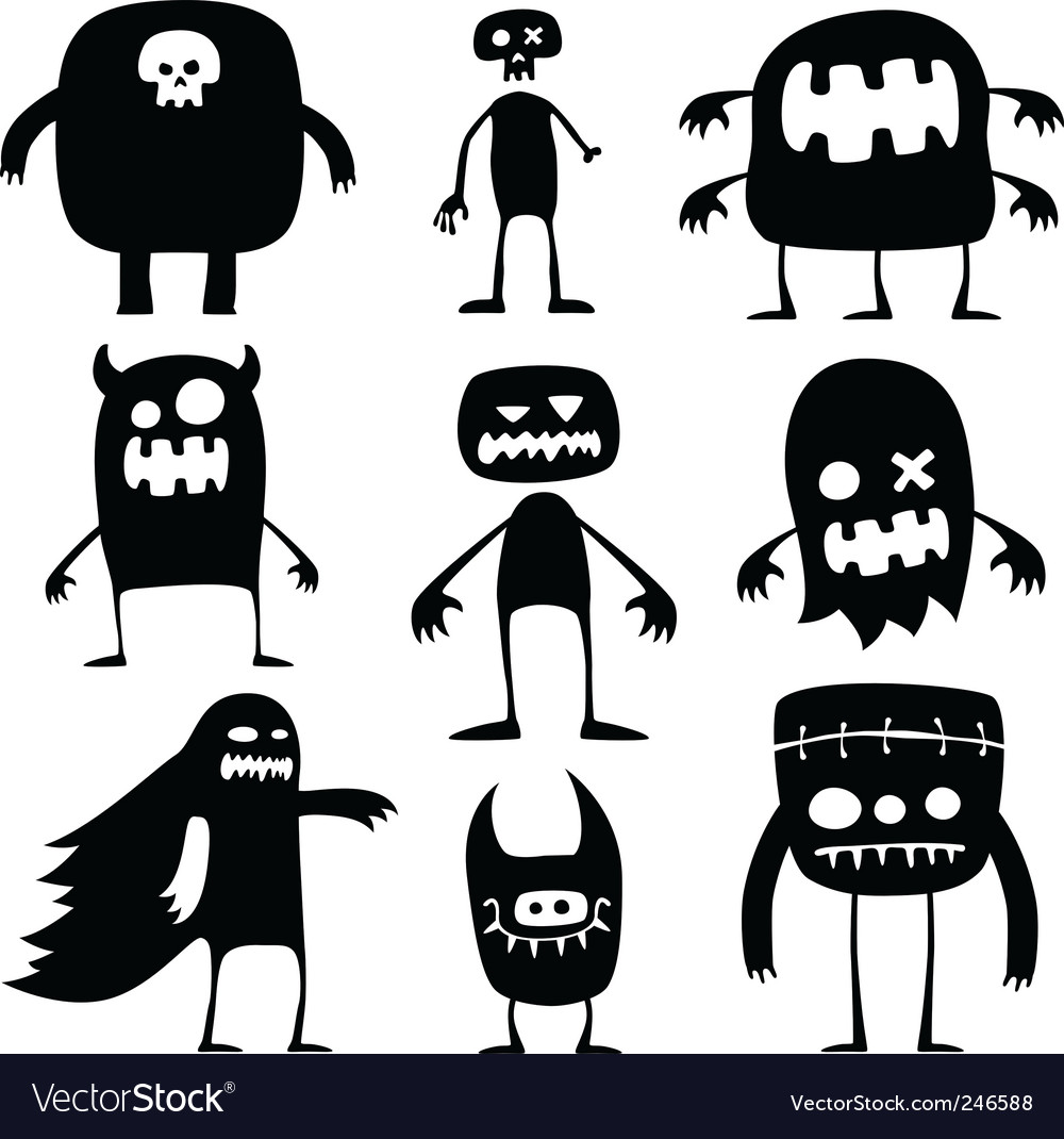 Halloween monsters Royalty Free Vector Image - VectorStock