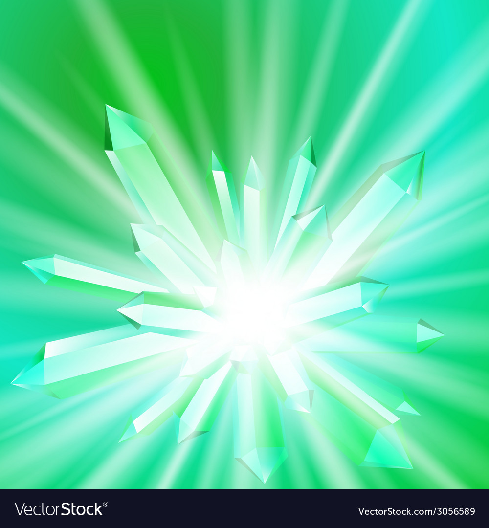 A crystal with rays vector image