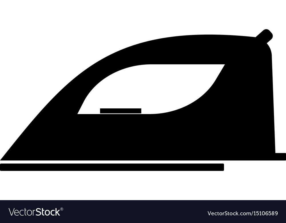 Iron the black color icon vector image