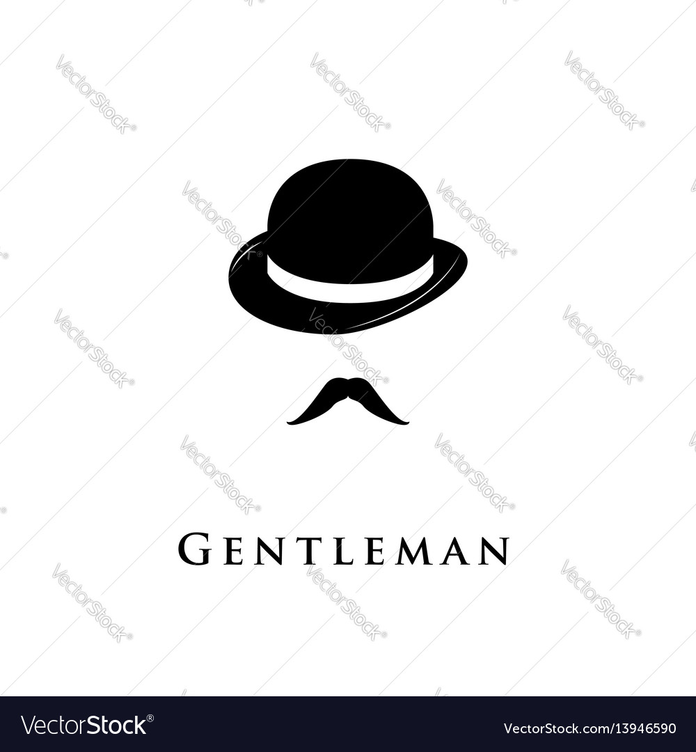 Gentleman icon isolated on white background vector image