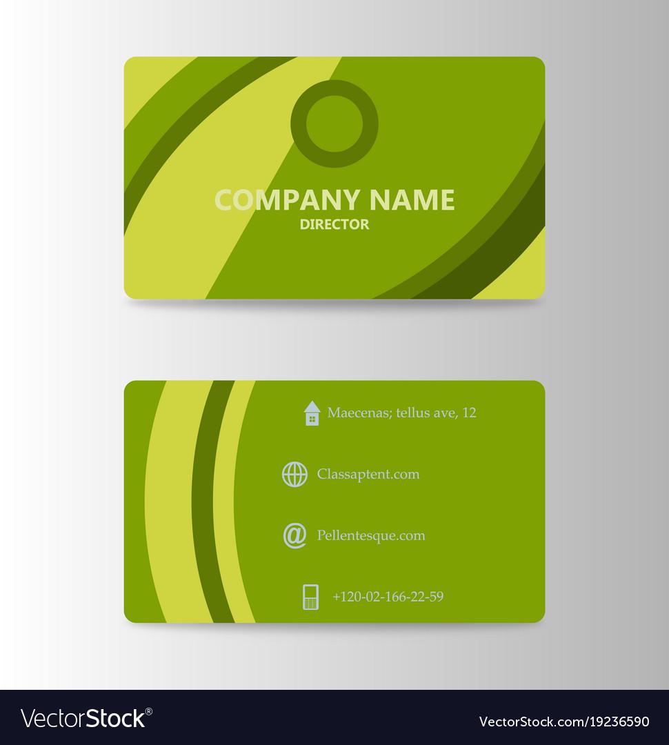 Modern business card print template trending vector image wajeb Gallery